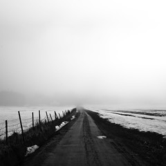 Lone road (Danbjo) Tags: road bw white black norway fog square norge nikon filter lone telemark norsk fyresdal nd110