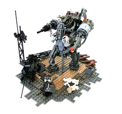 Rusted Iron (aabbee 150) Tags: iron post lego rusted mech apoc foitsop