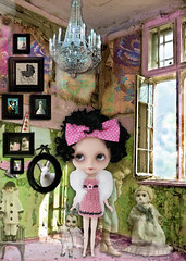 I see dead people (Ragazza*) Tags: bunny collage doll pierrot airbrush vintagetoys deadpeople customblythe carvedlips mohairringlets petitewanderlings handmadecrochetdress sweetoldsouls