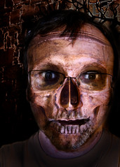 D (98) (Duncan Knifton) Tags: selfportrait skull spooky pagan project365 2011yip
