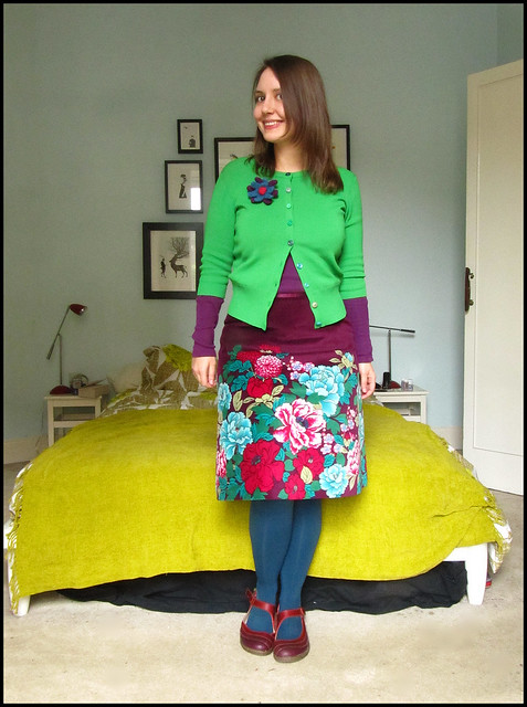 outfit 12.3.11: green and purple by oranges and apples