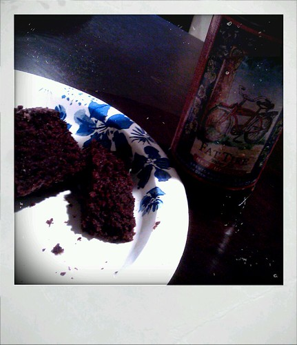 Chocolate cake and beer