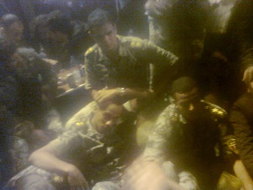 اعتصام ضباط الجيش فى ميدان التحرير