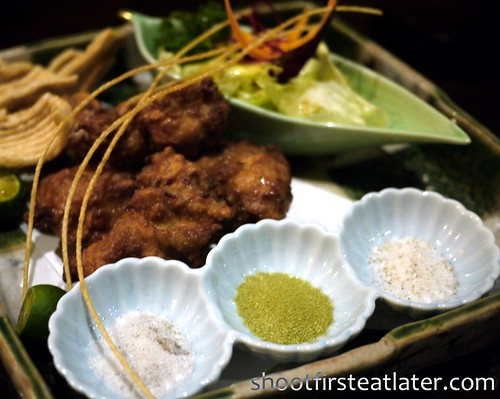 Japanese fried chicken w/ 3 salts