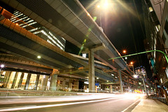 Tanimachi Junction - 05 (Kabacchi) Tags: night tokyo highway  nightview expressway  interchange      jct tanimachijunction ~tanimachijunction~