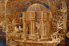 Scott Weaver's Rolling through the Bay (The Tinkering Studio) Tags: sanfrancisco sculpture pingpong toothpick toothpicks pingpongballs ballrun scottweaver rollingthroughthebay toothpickguy
