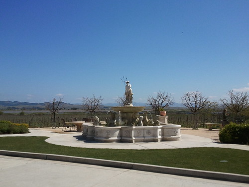 Jacuzzi Family Winery fountain