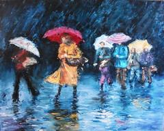Dans la pluie (Claudia Mandl) Tags: street people pluie rue
