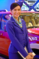 Car Model (ichiraku0911) Tags: auto model babe manila salon carshow cargirl stewardes carbabe