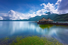 Exotic Bali (tropicaLiving - Jessy Eykendorp) Tags: longexposure blue light bali lake motion green tourism nature canon reflections indonesia landscape photography eos volcano daylight asia southeastasia outdoor mount exotic crater caldera lee nd filters 1022mm active batur kintamani canon1022mm gnd 50d efs1022mmf3545usm kedisan canoneos50d micarttttworldphotographyawards micartttt bigstopper lee10stopnd michaelchee