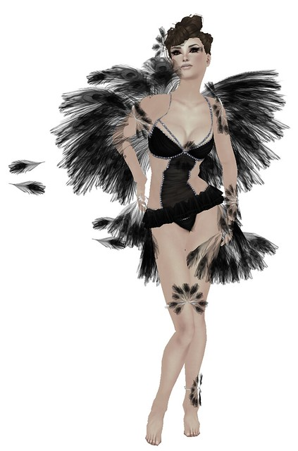 **Angelwing** Feather Fairy in Black