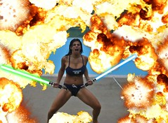Amanda Wenk: Attack Of The Clones (Double 0 Negative) Tags: amanda explosion attack clones lightsaber the wenk of