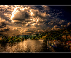Moselle (Sam ♑) Tags: canon river germany landscape deutschland boot boat europa europe sam fluss landschaft hdr mosel rheinlandpfalz moselle bernkastelkues newvision platinumpeaceaward artistoftheyearlevel4 aboveandbeyondlevel4 masterclassgroup rhienlandpalatinate aboveandbeyondlevel1 peregrino27newvision aboveandbeyondlevel2 aboveandbeyondlevel3