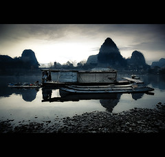 ancient china (jmarshall2010) Tags: china asia landscape guilin canon eos 5d mark ii rive li diecai hill sunset reflection clouds