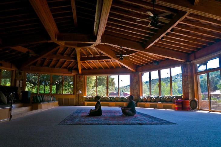 Travel Bloggers theplanetd meditating