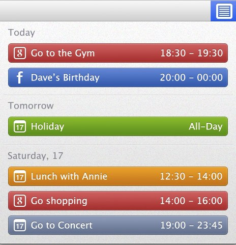 CalendarBar Screenshot