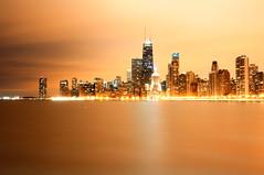 55 Chicago  (Explored 4/19/11) (benchorizo) Tags: longexposure chicago skyline nikon cityscape wideangle nightshots silky northavebeach uwa banias d90 tokina1224mm