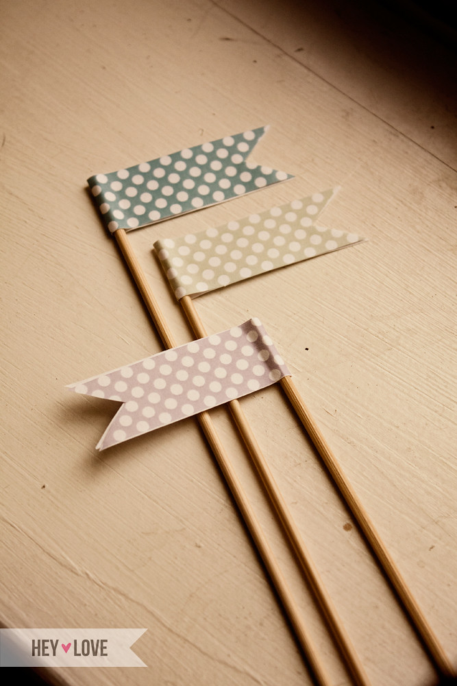 Polka Dot Party Flags
