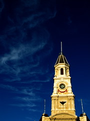 Town Hall (Padmacara) Tags: tower architecture clouds buildings bluesky townhall fremantle g11