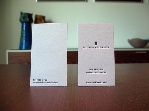 Ritchie Cruz Letterpress Cards