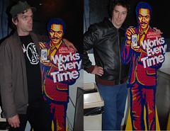 Billy Dee Diptych... (the roadiegirl) Tags: california ca losangeles funny punk maltliquor punkrock southerncalifornia goodtimes billydeewilliams colt45 boyleheights nikond80 karolinecollins theroadiegirl punksontour jesseluscious theblvdcafe petenormal