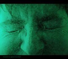 16/52: Head in a green bucket (novopix) Tags: selfportrait green bucket underwater blind bubbles drowning pail hopeless eyesshut selfie