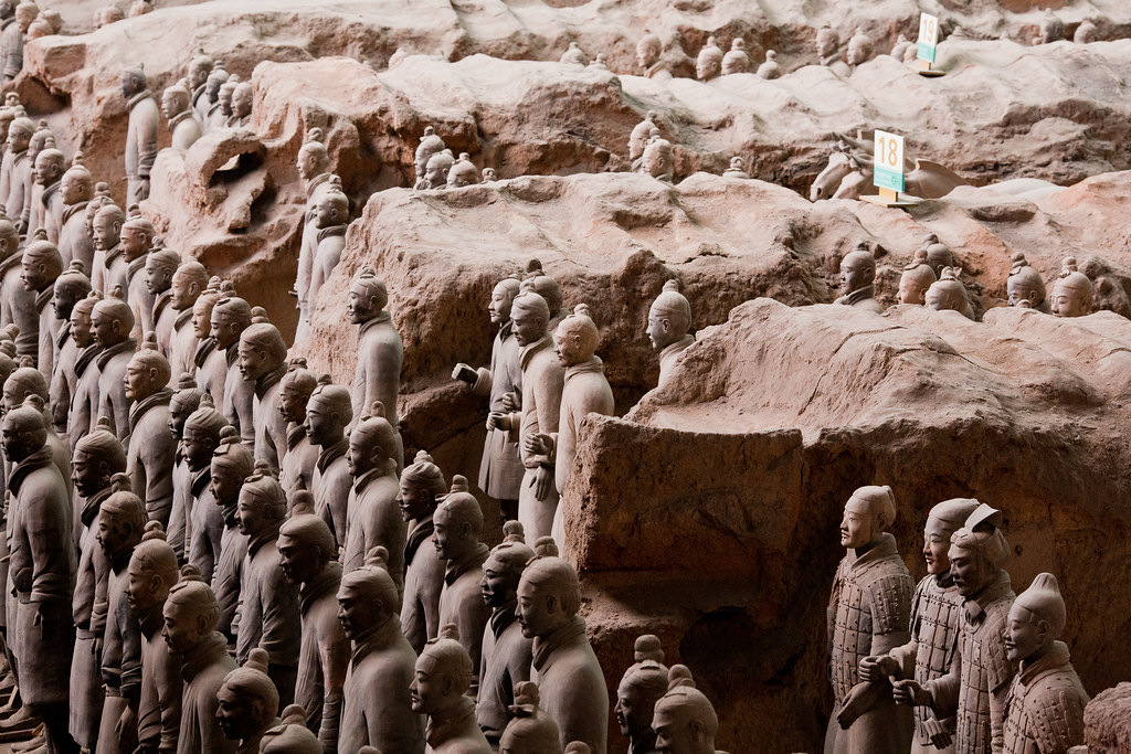 terracotta army in xi'an, china, a unesco world heritage site