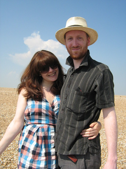 Dan and Vic at Dungeness