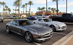 Mercedes-Benz SLS AMG (agup627) Tags: light two arizona chevrolet car sport canon silver germany dark grey mercedes benz united gray twin grand az super together chevy german same mercedesbenz gran scottsdale pavilions luxury mb gs coupe combination sls amg combo 300sl gullwing luxurycar tourer leicht gransport grandsport super grandtourer 60d canon60d worldcars sport scottsdalepavilions grantourer slsamg modern300sl