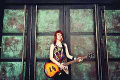 Haley- SENIOR 2011 (Grant Daniels) Tags: door orange house 3 green shirt canon photography dallas amazing cool looking shot bass mark grant iii blues 1d cox daniels colored sunburst haha 28 haley mk abstrat 1635mm buitar