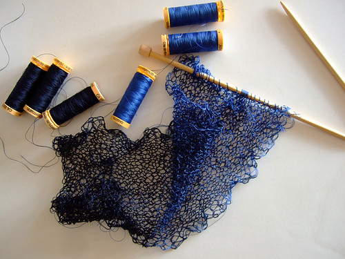 Knitting with Sewing Thread