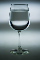 Wine Glass (justinswindle   photography) Tags: light white black reflection water glass mono high stem wine mason gray monochromatic institute gradient gill highlight brooks orbiculight