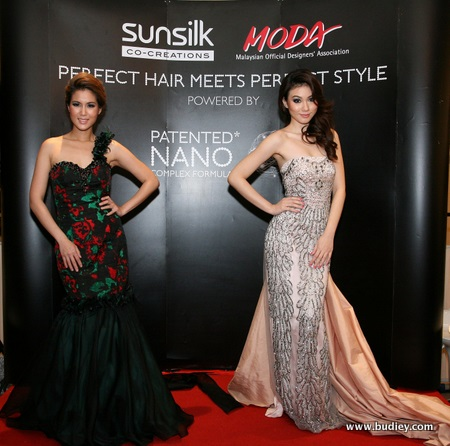 Perfect, elegant gowns by (L) Alvin Tay and (R) Amir Luqman captures pure excellence on the runway