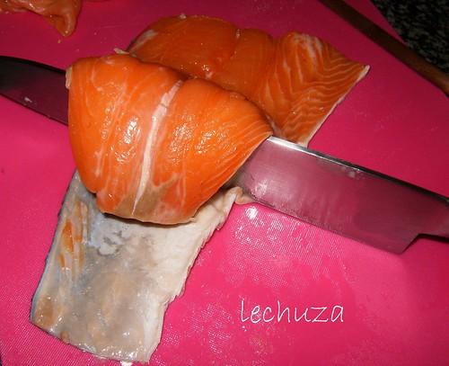 Tarta de salmón-cola salmon