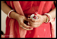 Hands of the Bride (Kuntal Gupta) Tags: wedding india canon 50mm groom bride candid indian creative culture marriage ritual shaadi concept 1855mm kolkata alternative stylish bengali westbengal 50mmf18 procedures bangali biya eos500d kuntalgupta kuntalguptaphotography