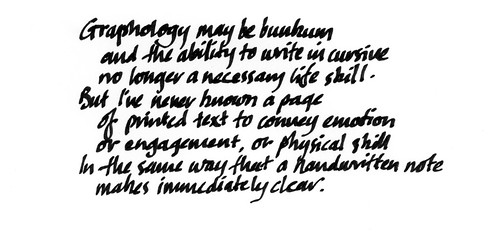 Rumours of the death of cursive are premature