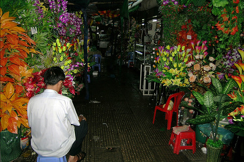 Phnom Penh - Flower Sale