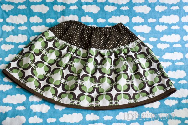 green Owl skirt