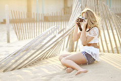 (Danielle Pearce) Tags: light sun film beach girl fashion photography nikon pretty sitting photographer bright bokeh d5000