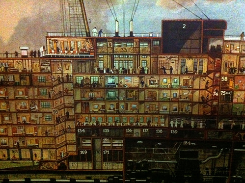 Queen Mary - Cutaway Mural in Museum. (We Stayed Around 56)