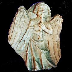 Angel with shawm (tina negus) Tags: boss sculpture abbey angel carving cast tewkesbury shawm mediebal