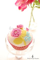 Spring Beauty! (Little Cottage Cupcakes) Tags: birthday pink blue wedding flower vintage cupcakes purple anniversary peony mauve fondant shabbychic sugarpaste littlecottagecupcakes