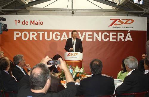 Pedro Passos Coelho-Almoço TSD do 1º de Maio