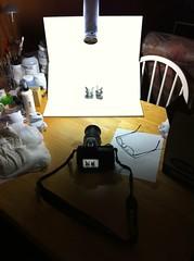 Photo Shoot Setup (ENC7) Tags: lighting art toy nikon vinyl kidrobot plastic setup dunny d300