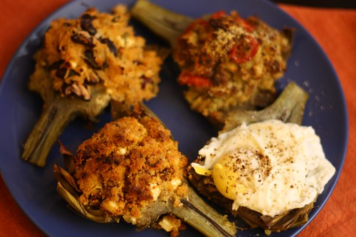 Stuffed Artichokes, 4 Ways