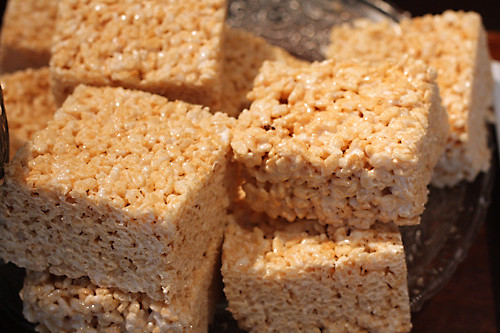 Sugarplum rice krispie treats