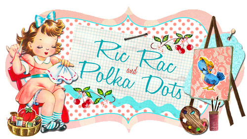 Ric Rac and Polka Dots Banner
