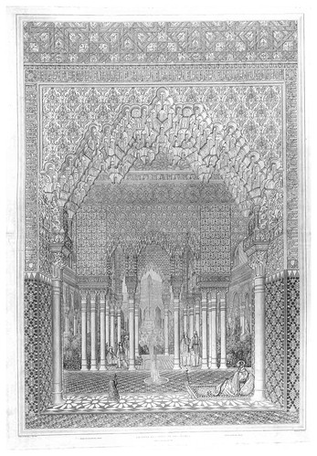 004-Sala de la Barca (Bendicion)-Plans- elevations- sections and details of the Alhambra 1842 –Vol. I-Jules Goury y Owen Jones