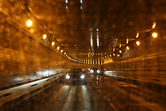 Coming Home (fahid chowdhury) Tags: new york city nyc light ny home car night drive town bokeh tunnel midtown expressway coming i495 pathfinder fahid expy chowdhury