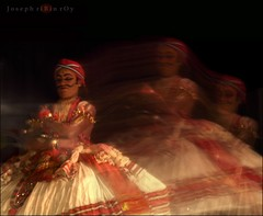 harmonise with the rhythm... melody of the music (ribinroy) Tags: music motion dance kerala slowshutter rhythm kathakali transofrmation